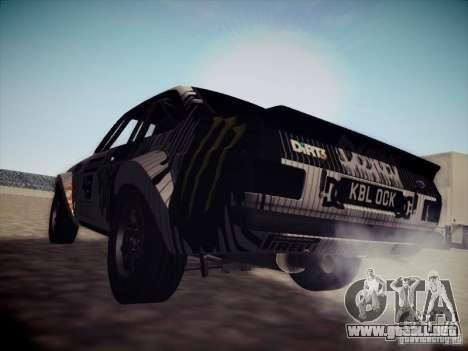 Ford Escort MK2 Gymkhana para GTA San Andreas vista posterior izquierda