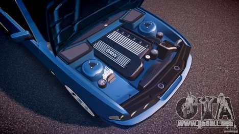 BMW 530I E39 e63 white wheels para GTA 4 vista desde abajo