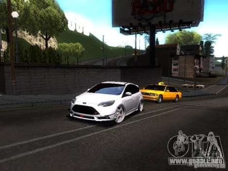 Ford Focus 2012 ST para GTA San Andreas vista posterior izquierda