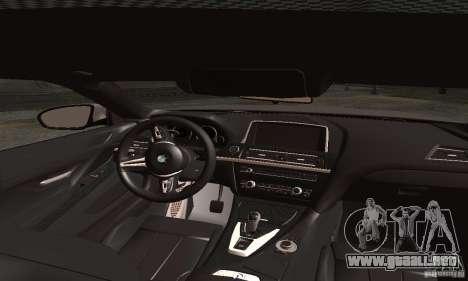 BMW M6 Coupe 2013 para GTA San Andreas vista posterior izquierda