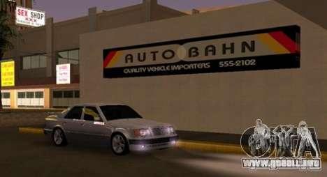 Mercedes-Benz E500 Taxi 1 para GTA San Andreas vista hacia atrás
