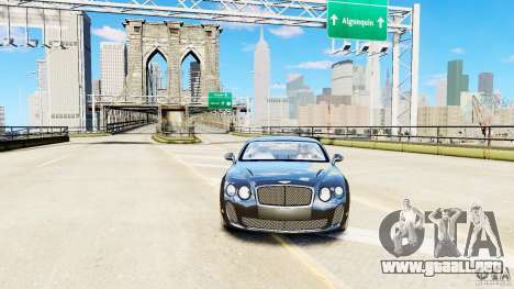 Bentley Continental SuperSports v2.5 para GTA 4 visión correcta