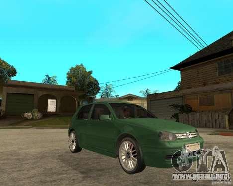 Volkswagen Golf IV GTI para la visión correcta GTA San Andreas