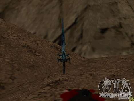 Frostmorn-espada de WoW Lich King para GTA San Andreas segunda pantalla