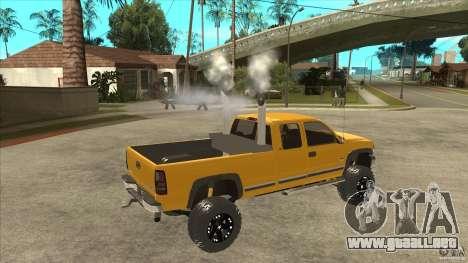 Chevrolet Silverado 2500 Lifted para la visión correcta GTA San Andreas