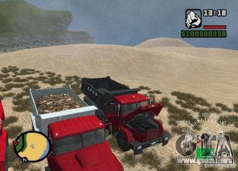 Camión KrAZ 65055 para vista lateral GTA San Andreas