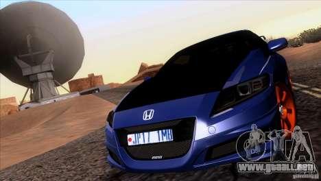 Honda CR-Z Mugen 2011 V1.0 para visión interna GTA San Andreas