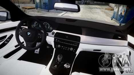BMW M5 F10 2012 para GTA 4 visión correcta