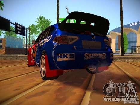 Subaru Impreza WRX STi N14 Rallycross para vista lateral GTA San Andreas