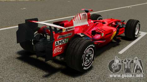 Ferrari F2008 para GTA 4 Vista posterior izquierda