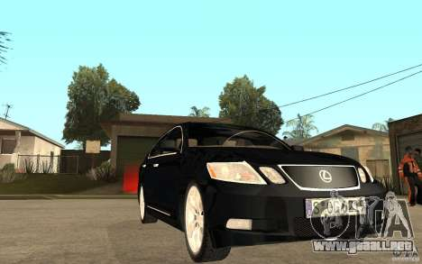 Lexus GS430 2007 para GTA San Andreas vista hacia atrás