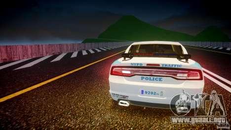 Dodge Charger NYPD 2012 [ELS] para GTA 4 interior