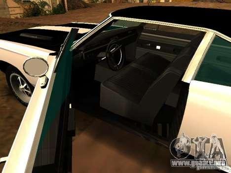 Plymouth GTX 1969 para GTA San Andreas vista hacia atrás