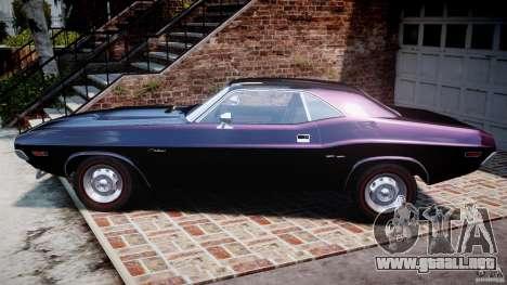 Dodge Challenger 1971 RT para GTA 4 left