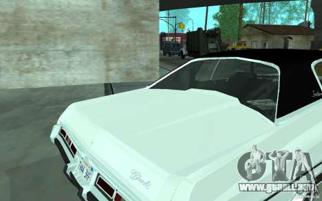 Chevrolet Impala 1972 para GTA San Andreas vista posterior izquierda