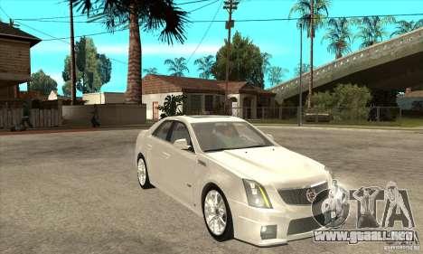 Cadillac CTS-V 2009 v2.0 para GTA San Andreas vista hacia atrás