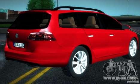 Volkswagen Passat B7 2012 para GTA San Andreas left