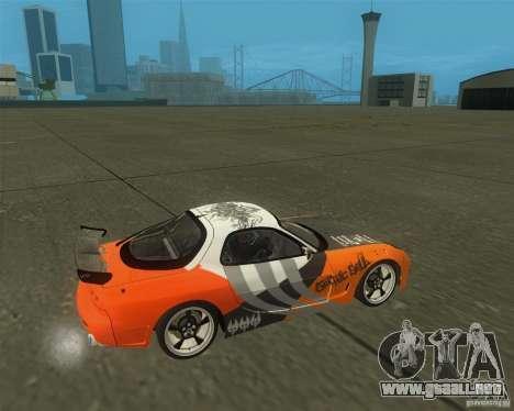 Mazda RX-7 weapon war para la visión correcta GTA San Andreas