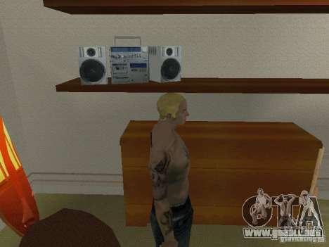 Piel Eminema para GTA San Andreas sucesivamente de pantalla