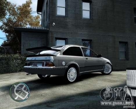 Ford Sierra RS500 Cosworth v1.0 para GTA 4 Vista posterior izquierda