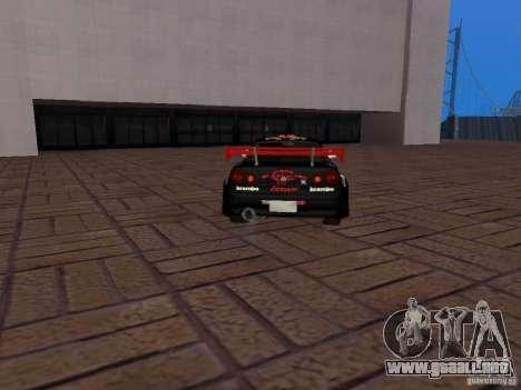 Nissan Skyline GT-R R34 Tunable para visión interna GTA San Andreas