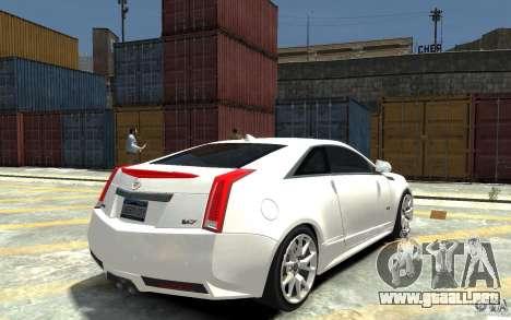 Cadillac CTS-V Coupe 2011 v.2.0 para GTA 4 visión correcta