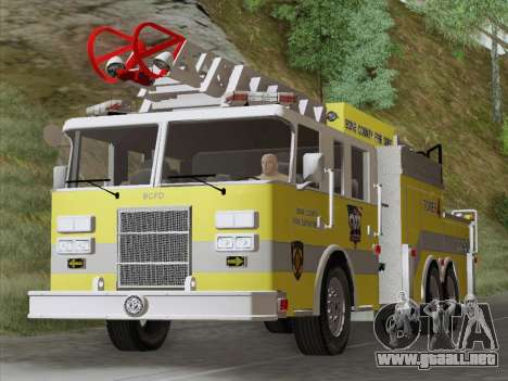 Pierce Arrow XT BCFD Tower Ladder 4 para GTA San Andreas left