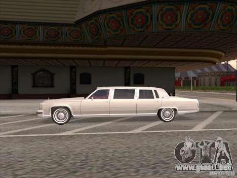 Cadillac Fleetwood Limousine 1985 para GTA San Andreas left