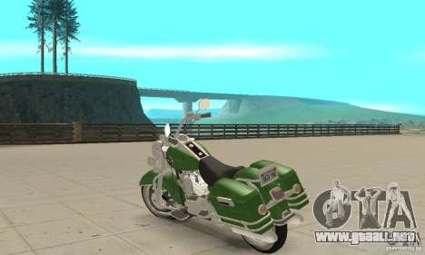 Harley Davidson Road King para GTA San Andreas vista posterior izquierda
