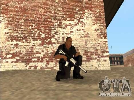 Chrome and Blue Weapons Pack para GTA San Andreas novena de pantalla