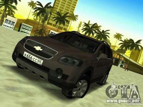 Chevrolet Captiva para GTA San Andreas vista hacia atrás