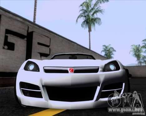 Saturn Sky Roadster para GTA San Andreas left