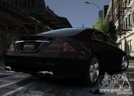 Mercedes-Benz CLS 63 AMG para GTA 4 vista hacia atrás