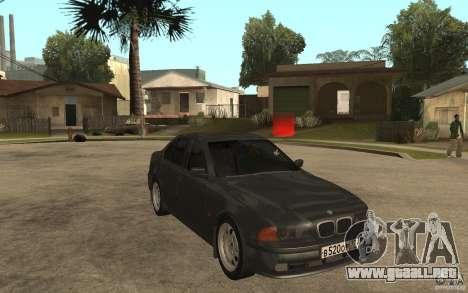 BMW 523i E39 1997 para GTA San Andreas vista hacia atrás