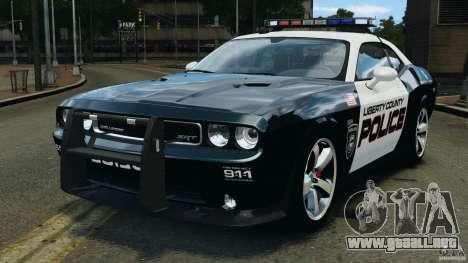Dodge Challenger SRT8 392 2012 Police [ELS][EPM] para GTA 4