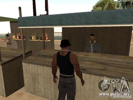 Mercado en la playa para GTA San Andreas tercera pantalla