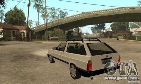 VW Parati GLS 1989 para GTA San Andreas vista posterior izquierda