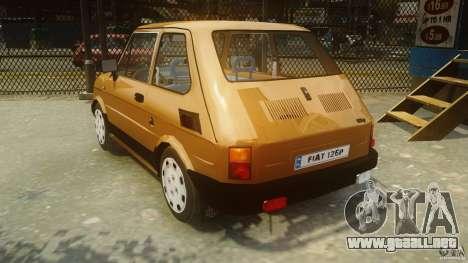 Fiat 126p FL Polski 1994 Wheels 2 para GTA 4 Vista posterior izquierda