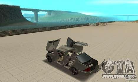 Mercedes Benz AMG S65 DUB para visión interna GTA San Andreas