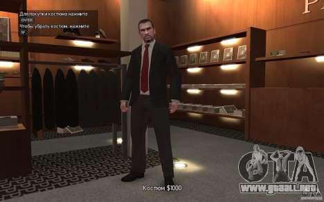 Chaquetas abiertas con lazos para GTA 4 adelante de pantalla