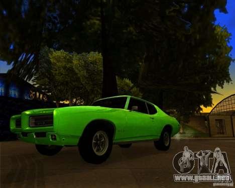 Pontiac GTO 1969 para vista inferior GTA San Andreas