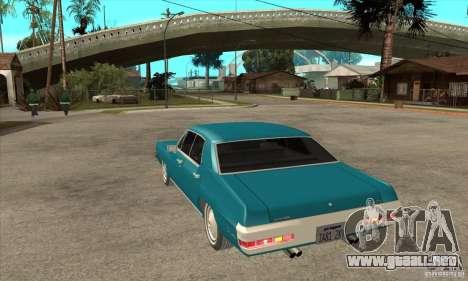 Pontiac LeMans para GTA San Andreas vista posterior izquierda