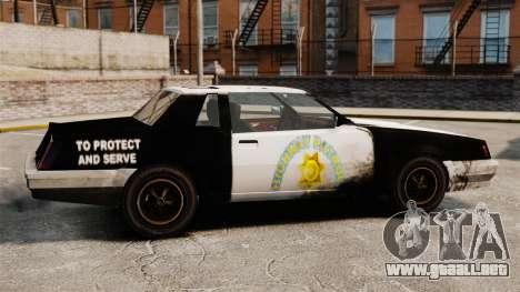 Policía para colorear para un sable oxidado para GTA 4 left
