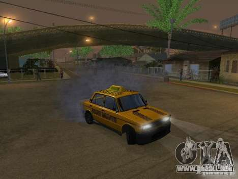 2106 VAZ tuning Taxi para GTA San Andreas vista hacia atrás