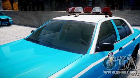 Ford Crown Victoria Classic Blue NYPD Scheme para GTA motor 4
