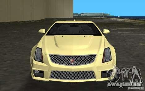 Cadillac CTS-V Coupe para GTA Vice City left