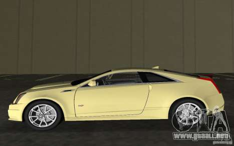 Cadillac CTS-V Coupe para GTA Vice City vista interior