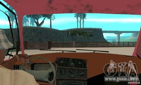 Saab 9000 para GTA San Andreas vista hacia atrás