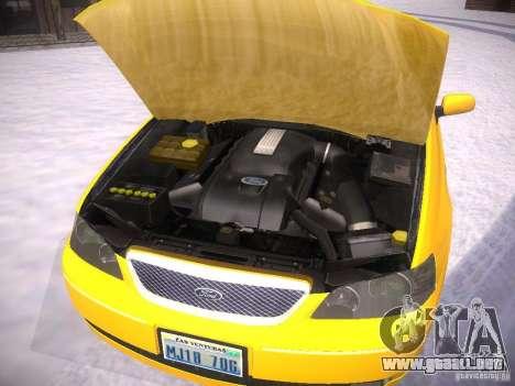 Ford Falcon para vista lateral GTA San Andreas