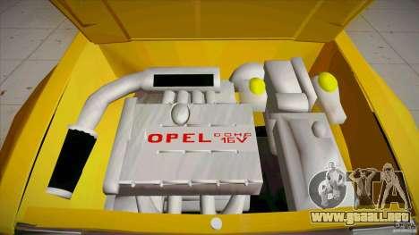 Opel Kadett D GTE Mattig Tuning para la vista superior GTA San Andreas